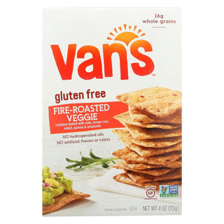 Vans Natural Foods Fire Roasted Veggie Gluten Free Crackers, 4 Ounce - 6 per case.