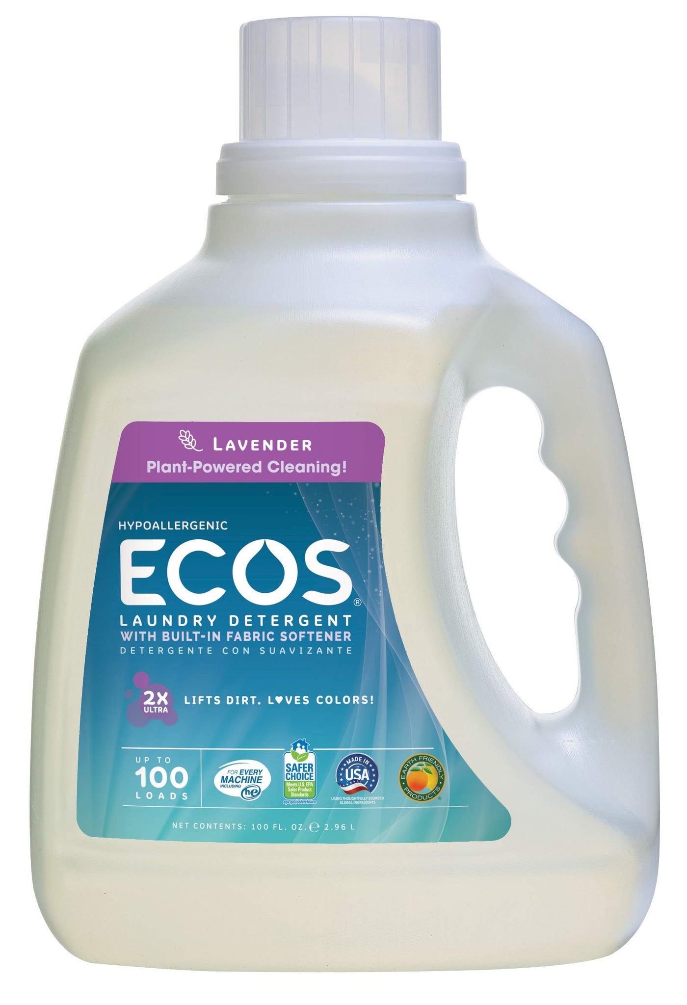 Earth Friendly Products Ecos Laundry Lavender ,100 Fl Oz