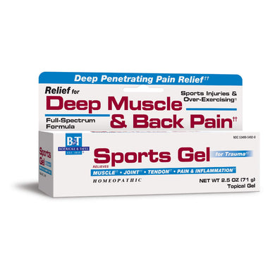 Boericke & Tafel Sports Gel, Relief for Deep Muscle & Back Pain and Inflammation, Homeopathic, 2.5 oz