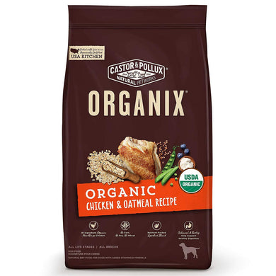 Castor & Pollux Organix Organic Chicken & Oatmeal Recipe Dry Dog Food, [wellica]