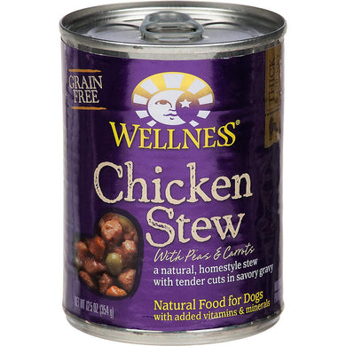 Wellness Thick & Chunky Natural Wet Grain Free Canned Dog Food, [wellica]