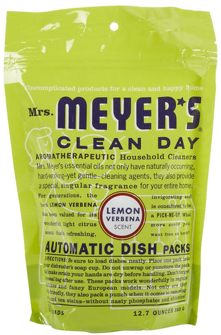 Mrs Meyers Clean Day Auto Dish Packet Lemon Verbena, 12.7 lb, [wellica]
