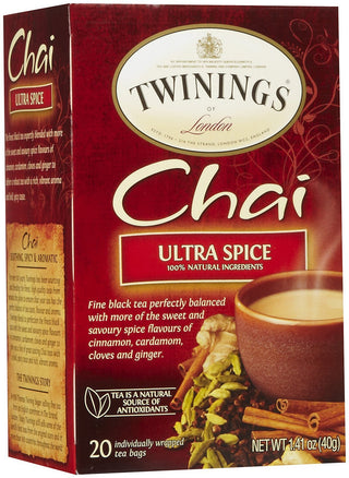Twinings Ultra Spice Chai, 1.41 oz, 20 ct