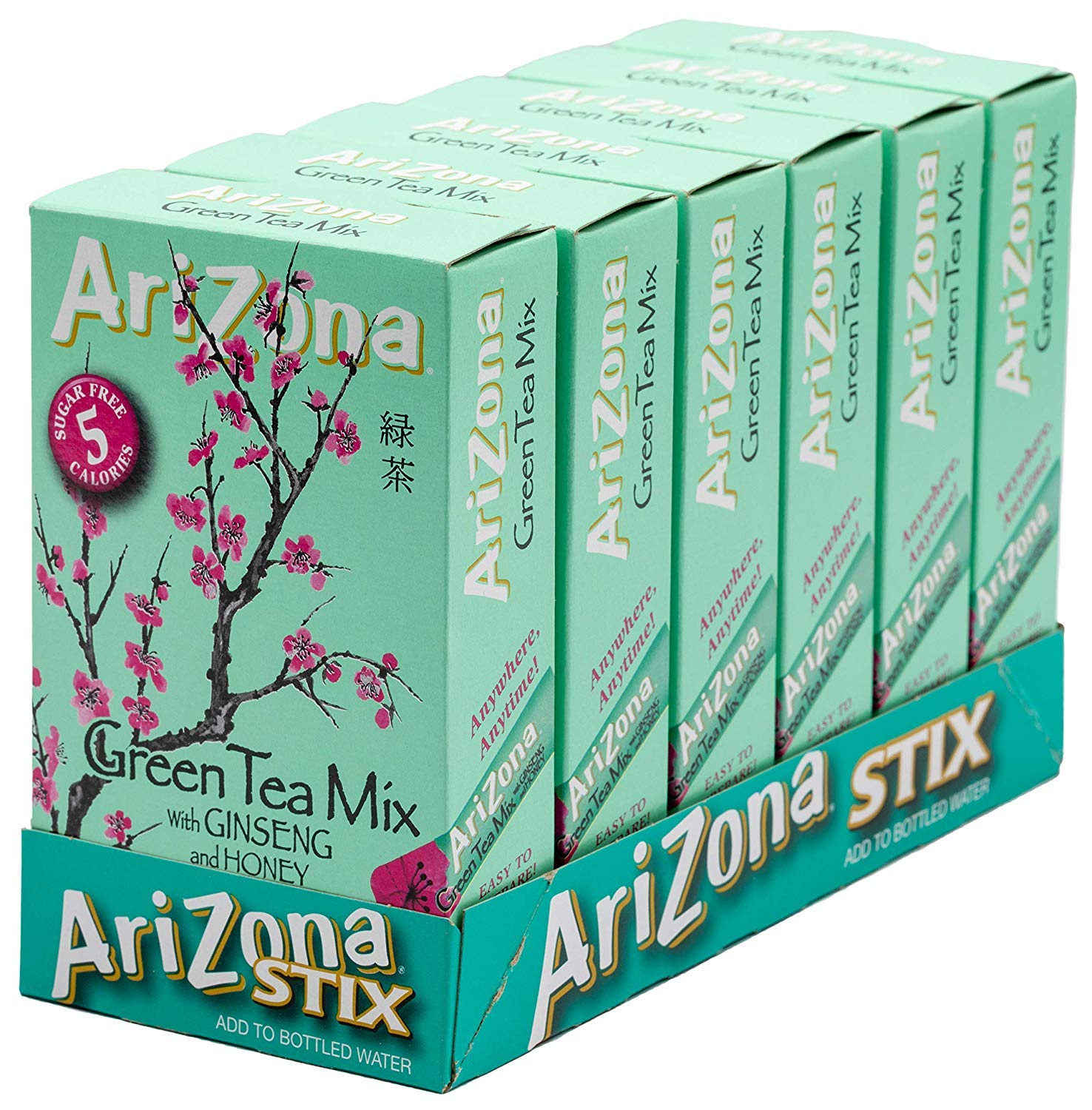 AriZona Iced Tea Stix, 10 Stix (Pack of 6)