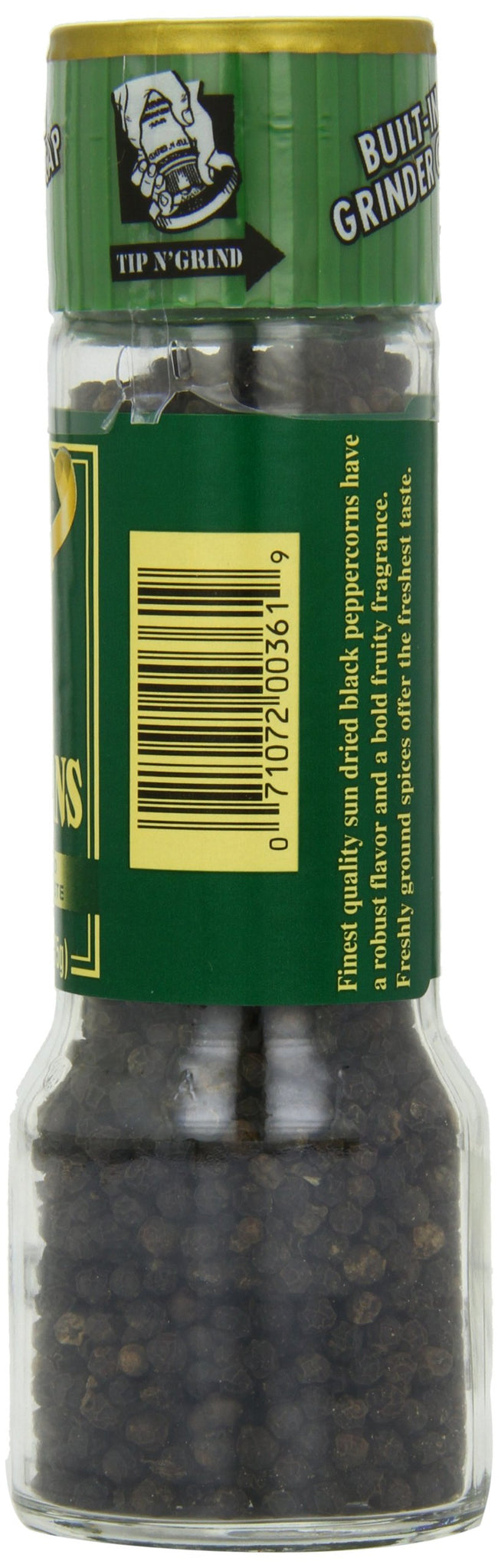 Alessi Black Peppercorn Grinder, 2.64 oz (Pack of 6), [wellica]