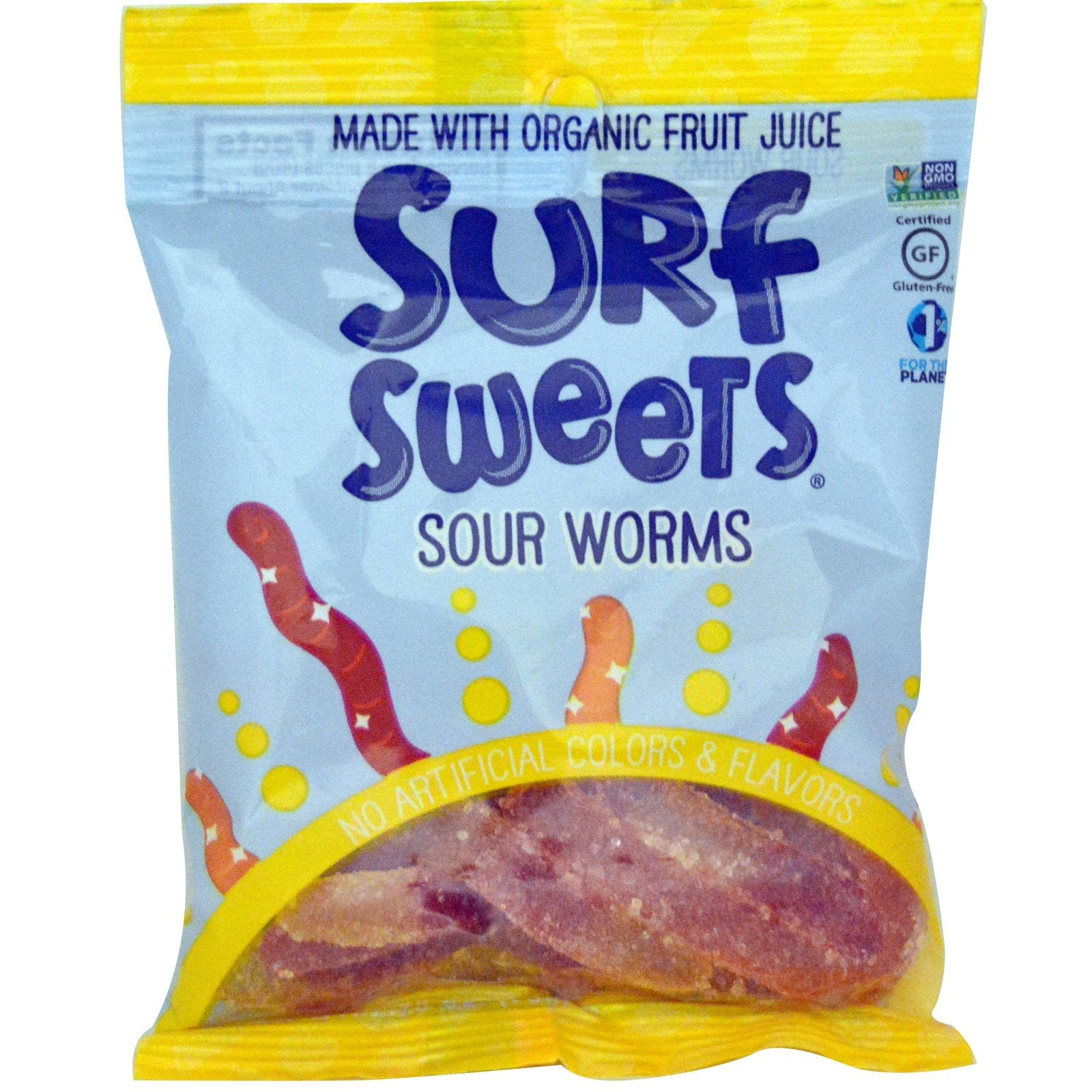 SurfSweets, Sour Worms, 2.75 oz (78 g) SurfSweets, Sour Worms, 2.75 oz (78 g) - 2pcs