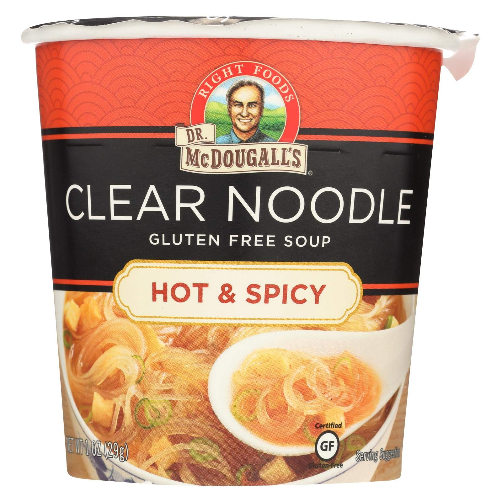 Dr McDougalls Hot and Spicy Clear Noodle Asian Soup, 1 Ounce - 6 per case., [wellica]