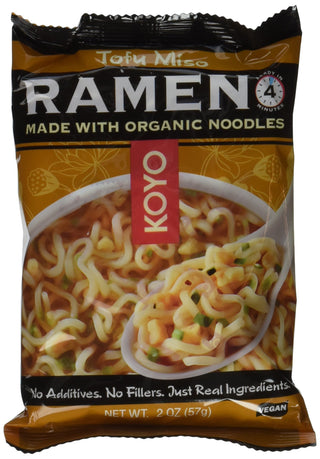 Koyo Tofu and Miso Ramen, 2-Ounce Packages (Pack of 12), [wellica]