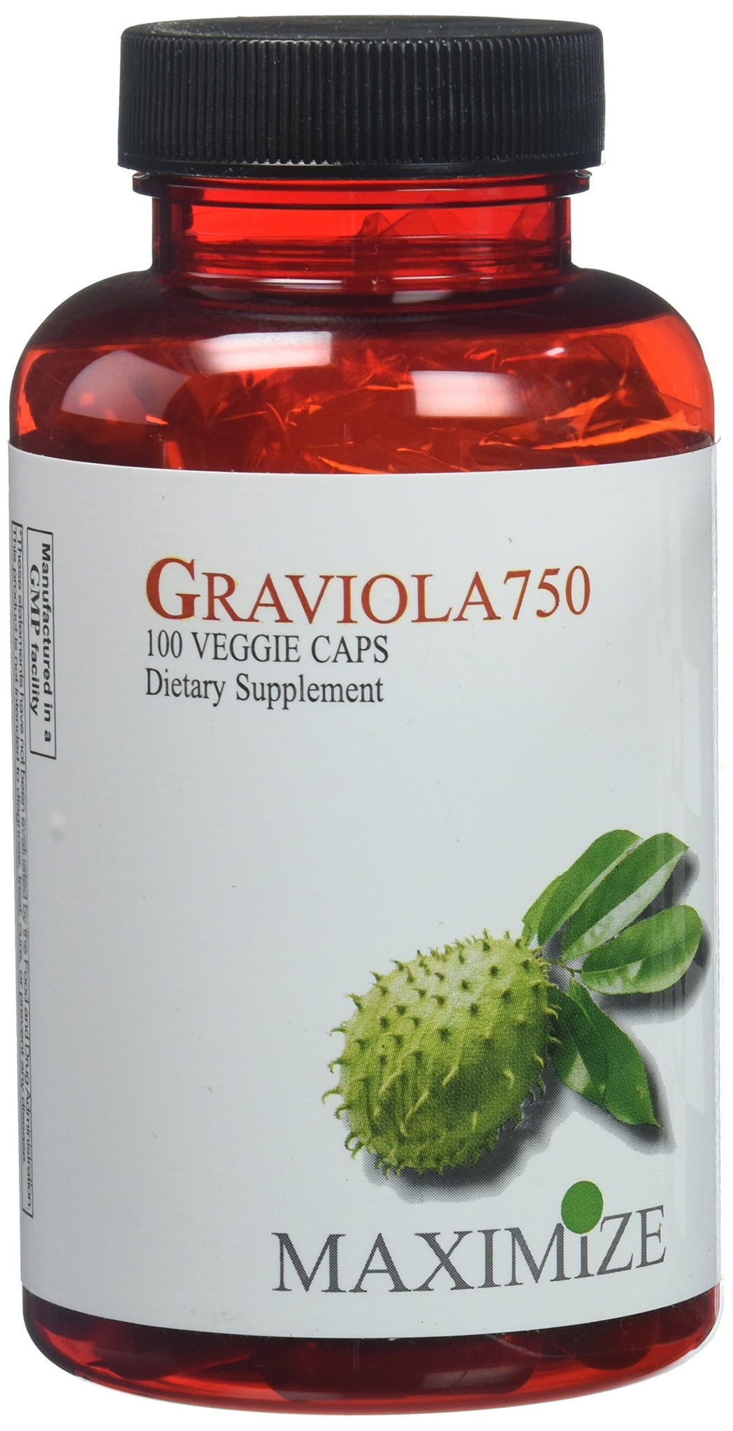 Maximize Graviola 750 by Maximum International -100 Veggie Caps, [wellica]