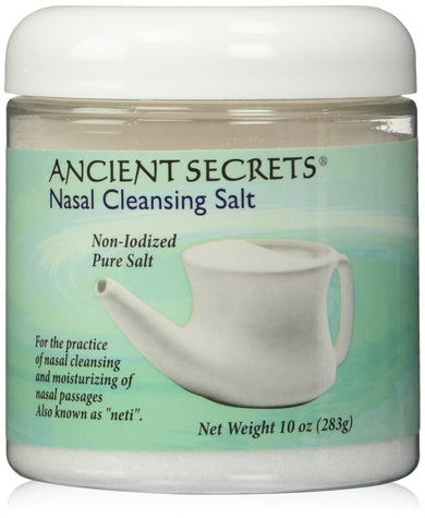 Nasal Cleansing Salt Jar Ancient Secrets 10 oz Salt, [wellica]