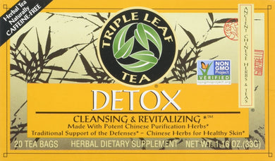 Triple Leaf Tea: Tea,Detox, 20 ct