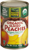 Native Forest Organic Sliced Peaches, 15 Ounce Cans (Pack of 6), [wellica]