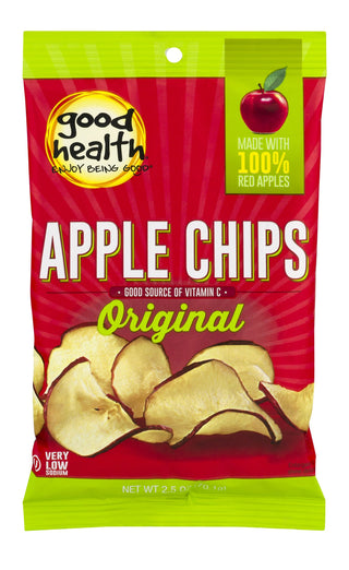 Good Health Natural Apple Dried Chips, 2.5 OZ - 12 per case, [wellica]