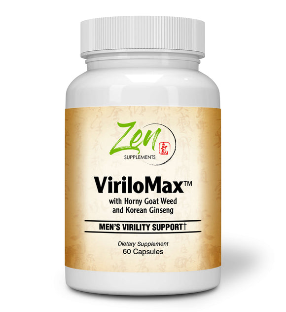 Zen Supplements - Virilomax Mens Virility Support - Herbal Libido Formula Enhanced with a Proprietary Herbal activator to Support Men's Sexual Health and Normal Sexual Function 60-Caps
