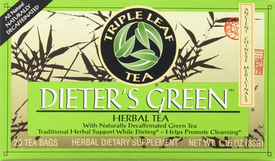 Triple Leaf Teas - Dieter's Green Herbal Tea, 20 bag
