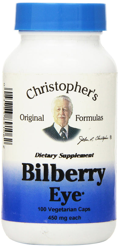 Dr Christopher's Formula Bilberry Eye, 100 Count