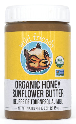 Wild Friends Foods Sunflower Butter, Honey, 16 oz Jar