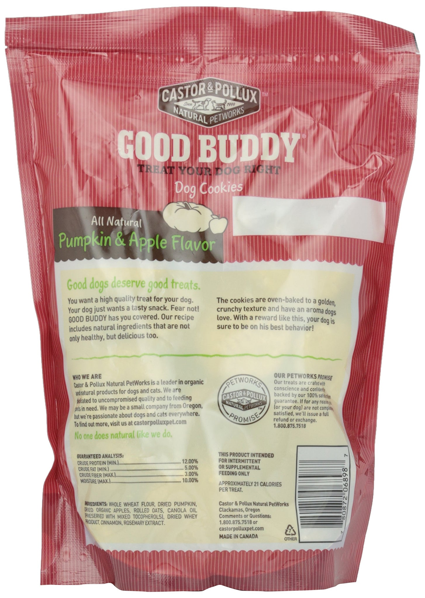 Good Buddy, Pumpkin & Apple Cookies, 16 oz, Dog Treats, [wellica]