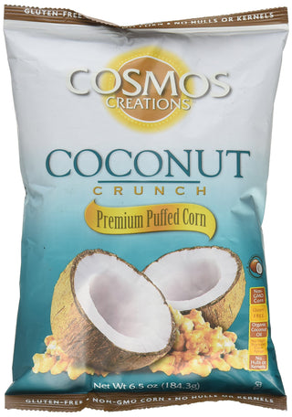 Cosmos Creations Puffed Corn Coconut Crunch 6.5 oz bag