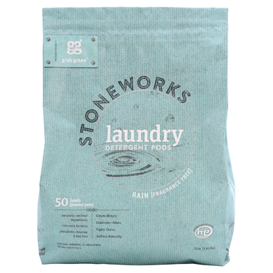 Grab Green Stoneworks Natural Laundry Detergent Powder Pods, [wellica]