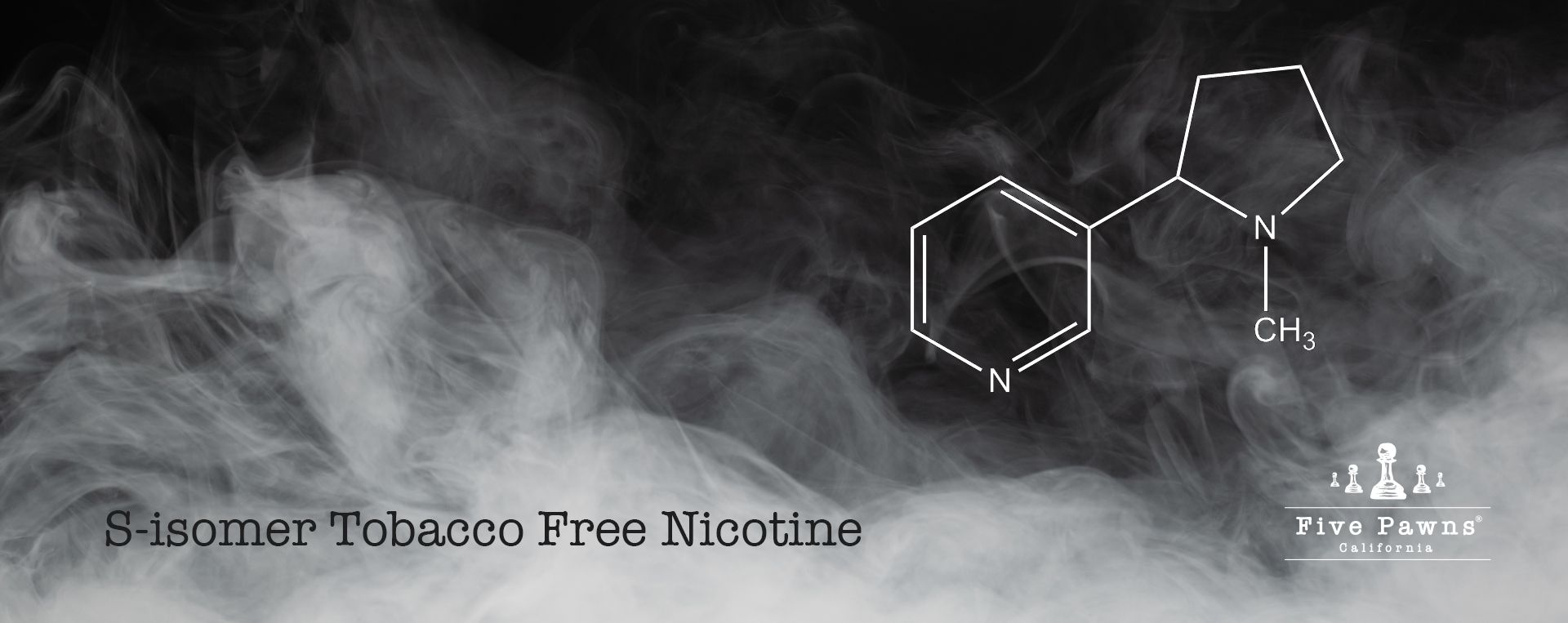 S-isomer, the purest form of tobacco free nicotine