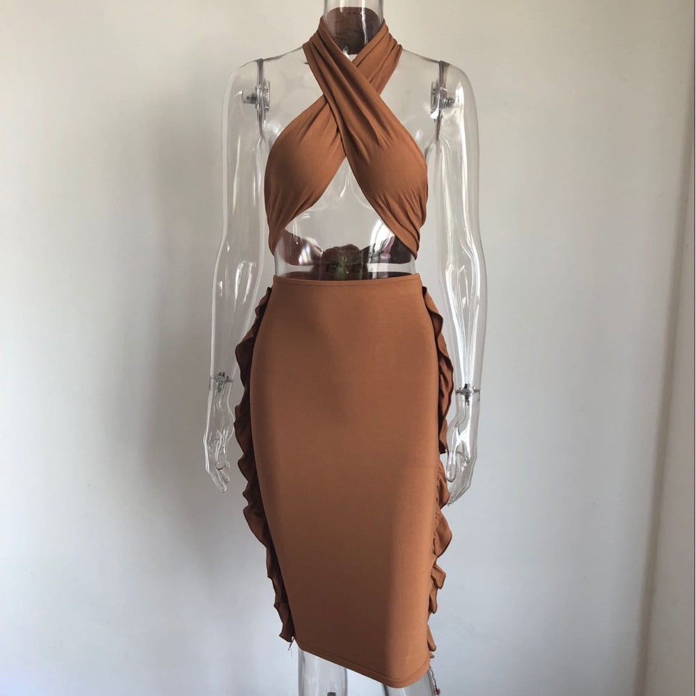 Brown Zola Two Piece