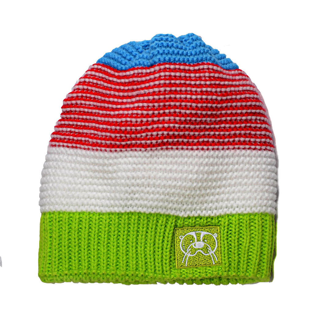 Knit hat- Blue Red mix