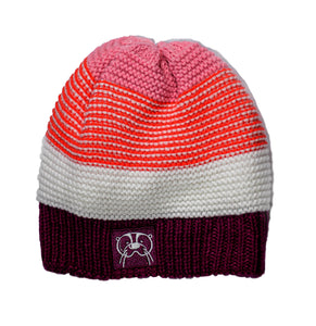 Knit winter hat- Pink mix
