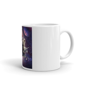 RandomGalaxy 11oz Cat Riding Chicken Turtle Panda Llama Unicorn Mug
