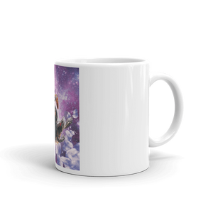 RandomGalaxy 11oz Lazer Warrior Space Cat Riding Turtle Eating Taco Mug