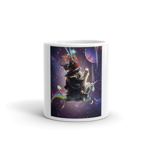 RandomGalaxy Cat Riding Chicken Turtle Panda Llama Unicorn Mug