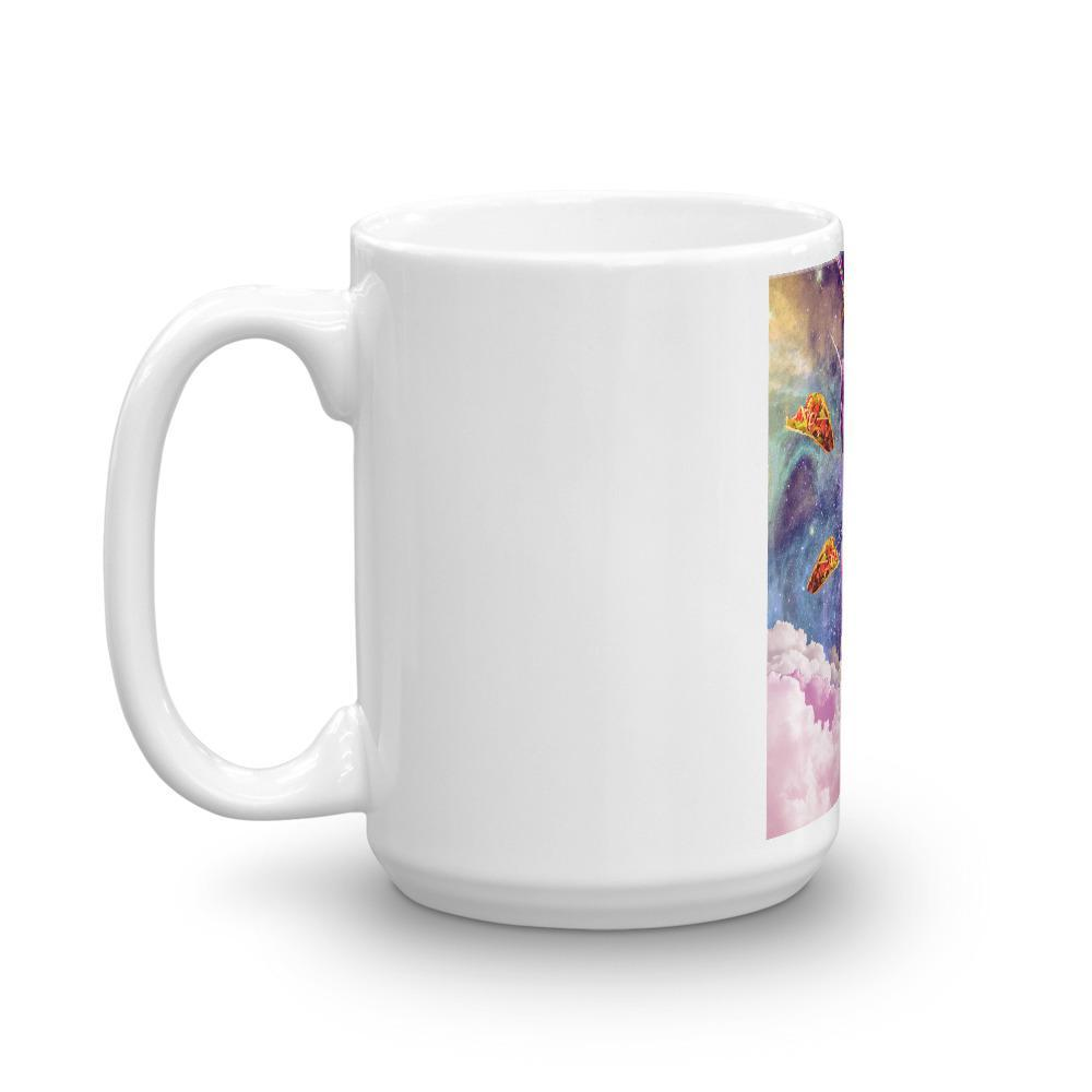 RandomGalaxy Cosmic Cat Riding Alpaca Unicorn Mug