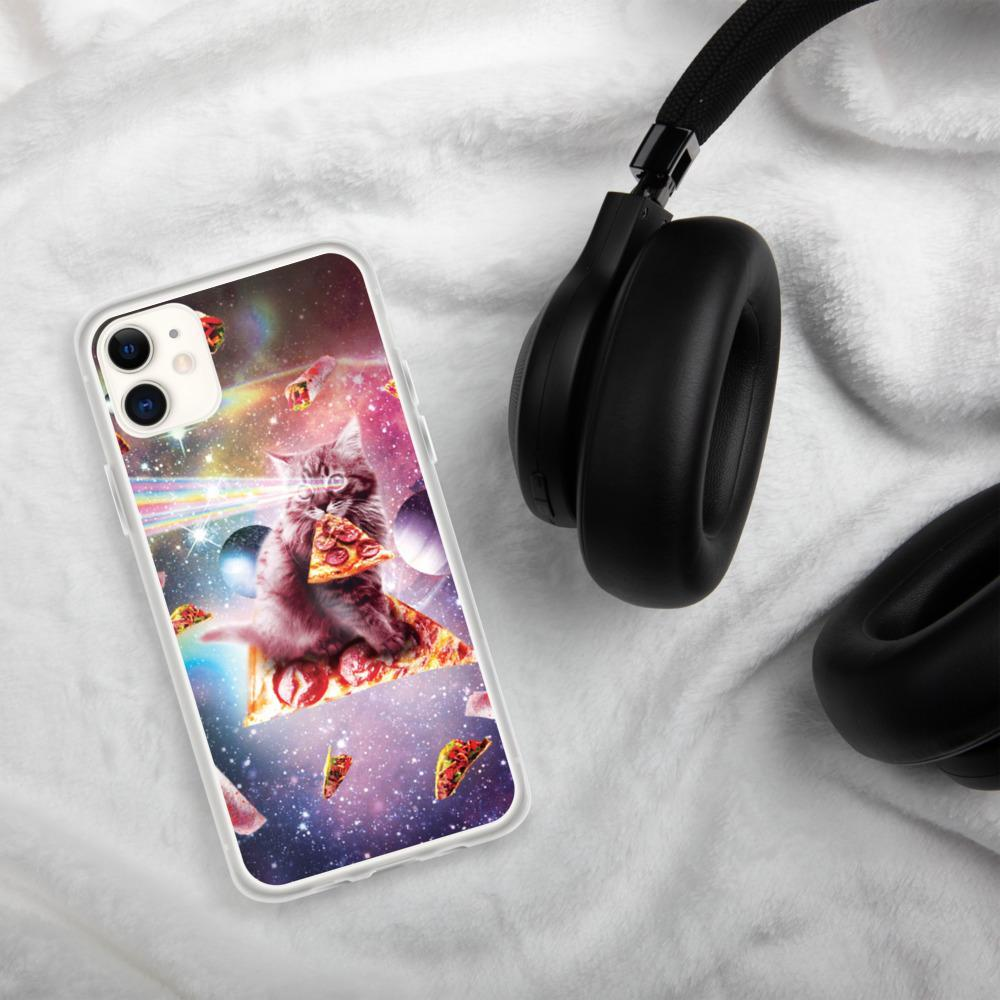 RandomGalaxy iPhone 11 Outer Space Pizza Cat - Rainbow Laser, Taco, Burrito iPhone Case