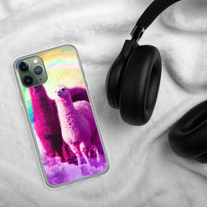 RandomGalaxy iPhone 11 Pro Crazy Funny Rainbow Llama In Space iPhone Case