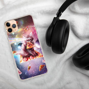 RandomGalaxy iPhone 11 Pro Max Outer Space Pizza Cat - Rainbow Laser, Taco, Burrito iPhone Case