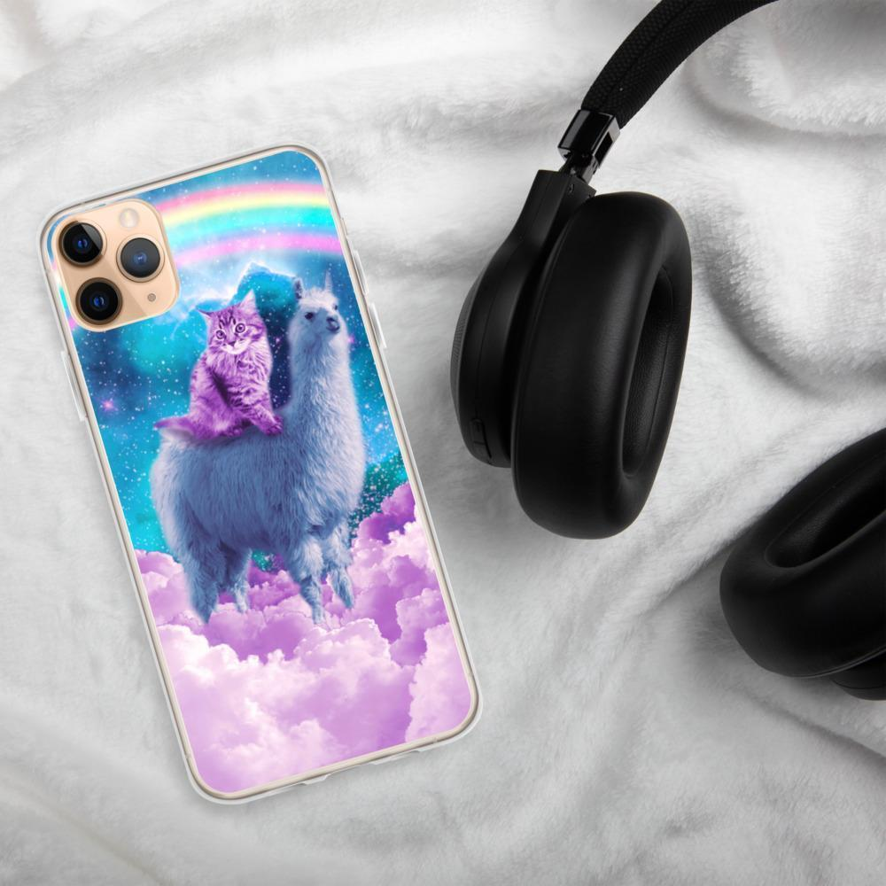 RandomGalaxy iPhone 11 Pro Max Rainbow Llama - Cat Llama iPhone Case