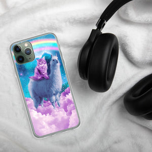 RandomGalaxy iPhone 11 Pro Rainbow Llama - Cat Llama iPhone Case