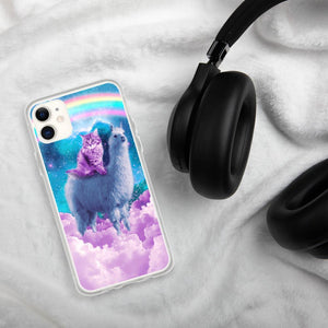 RandomGalaxy iPhone 11 Rainbow Llama - Cat Llama iPhone Case