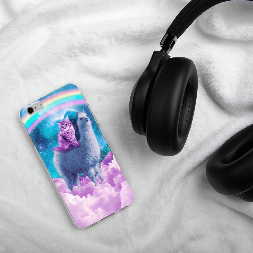 RandomGalaxy iPhone 6/6s Rainbow Llama - Cat Llama iPhone Case