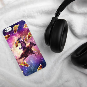 RandomGalaxy iPhone 6 Plus/6s Plus Cowboy Space Cat On Hyena Unicorn - Taco iPhone Case