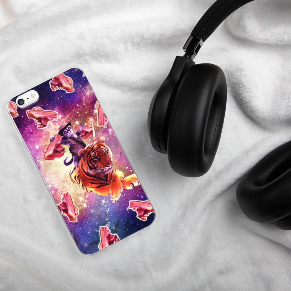 RandomGalaxy iPhone 6 Plus/6s Plus Cowboy Space Cat On Tiger Unicorn - Bacon iPhone Case