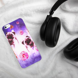 RandomGalaxy iPhone 6 Plus/6s Plus Pugs In The Clouds With Doughnut And Pizza iPhone Case