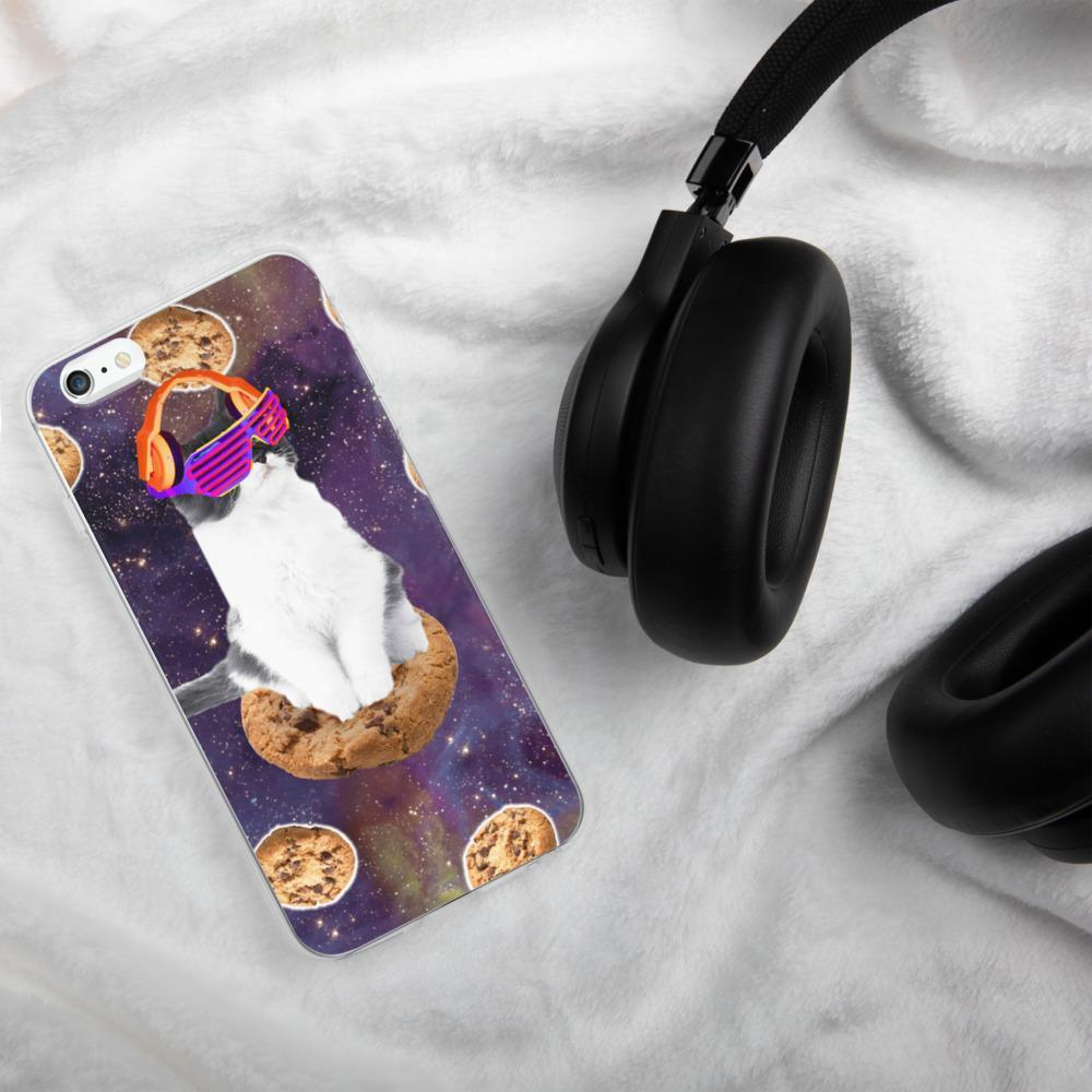 RandomGalaxy iPhone 6 Plus/6s Plus Rave Kitty Cat On Choc Cookie In Space iPhone Case