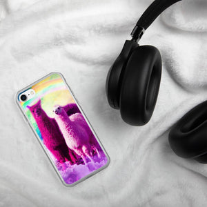 RandomGalaxy iPhone 7/8 Crazy Funny Rainbow Llama In Space iPhone Case