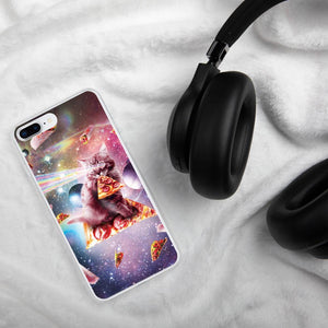 RandomGalaxy iPhone 7 Plus/8 Plus Outer Space Pizza Cat - Rainbow Laser, Taco, Burrito iPhone Case