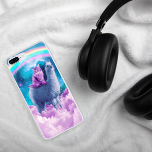RandomGalaxy iPhone 7 Plus/8 Plus Rainbow Llama - Cat Llama iPhone Case
