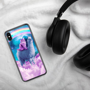 RandomGalaxy iPhone XS Max Rainbow Llama - Cat Llama iPhone Case