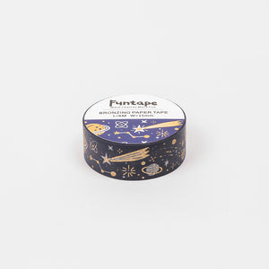 Funtape Bronzing Paper Foiled Space Masking Washi Tape Roll