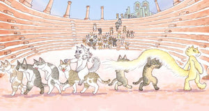 Miao Kaka Postcard Raining Cat Colosseum