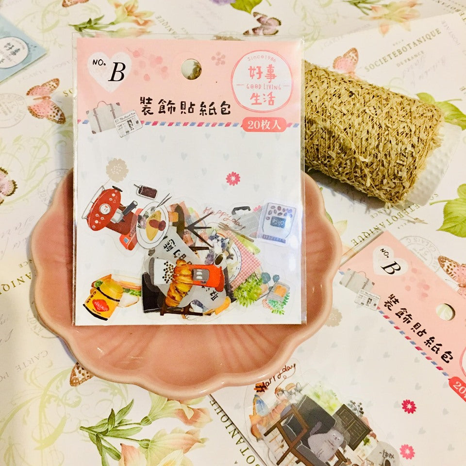 SUNNY CO. Daily Living Transparent Sticker Flakes Pack B